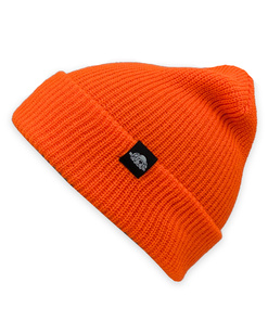 GONGA RIB BEANIE ORANGE FLUO black tag