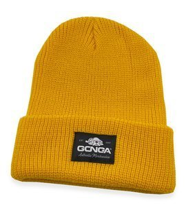 GONGA RIB BEANIE GOLDEN YELLOW black