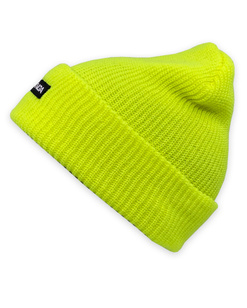 GONGA RIB BEANIE ORANGE FLUO white