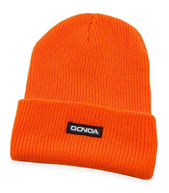 GONGA RIB BEANIE ORANGE FLUO box